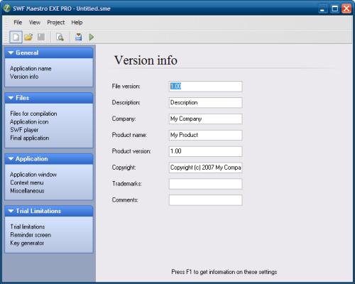 SWF Maestro EXE PRO 2.00 скачать бесплатно SWF компилятор